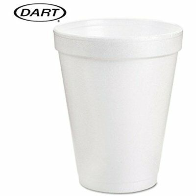 Dart 8 Oz White Disposable Coffee Foam Cups Hot Cold Drink Cup, (Pack 51)