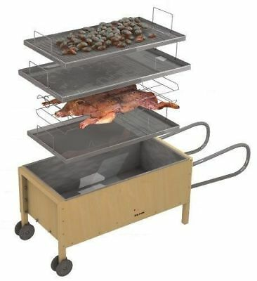 Hog Roast Spit Roast BBQ Barbeque Caja China Caja Asadora Roasting Box Oven Fire