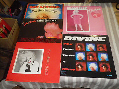 "DIVINE: Shoot Your Shot/ Love Reaction etc., LOT WITH 5 MAXIS/ 12""    *MINT WAX*"
