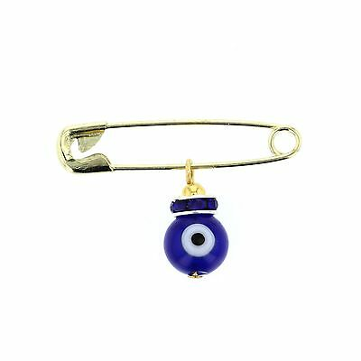 "Evil Eye,Cubic Evil Eye Safety Pins. Pins Approx. 1 "" long"