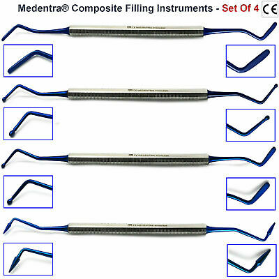 5Pcs Composite Placement Scalers Dental Restorative Plastic Filling Instruments