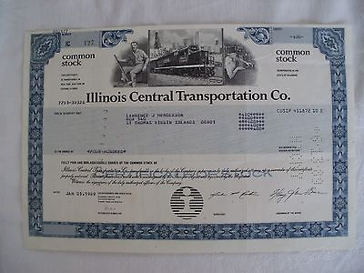Lot of 1,000 Illinois Central Railroad Transportation Cancelled Stock