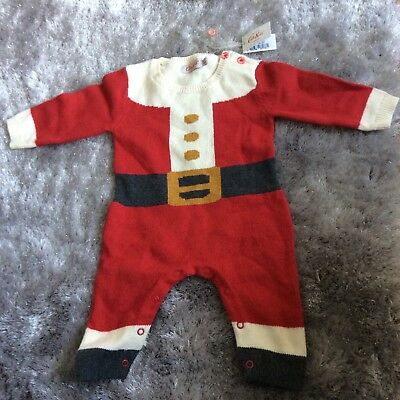 Cath Kidston Baby Girl Boy Knit Babygrow Christmas 0-3 Months. New Tag