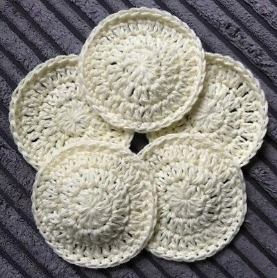 Reusable 100% Cotton Face Scrubbie Pads Machine Washable Make Up Removal Organic
