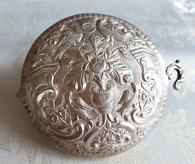 Antique Silver Ottoman Empire Belt Buckle Pafta Traditional Costume From Balkan