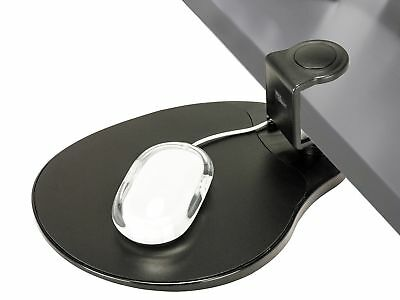 Clamp on Mouse Platform / Clip on Mouse Pad Rotating 360 Degree Adjustable Er...