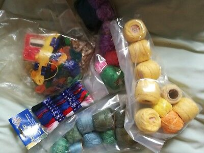 Coloured embroidery thread bundle