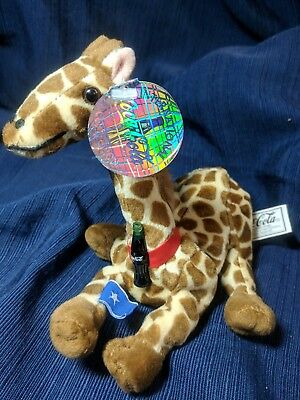 1999 Coca-Cola Somalia Rifraff the Giraffe Mini Bean Bag-Beanie