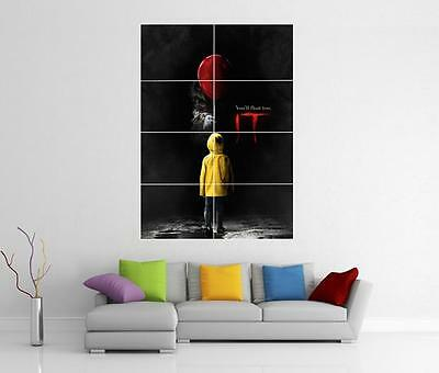 It Movie 2017 Stephen King Pennywise Xl Giant Wall Art Pic Print Photo Poster