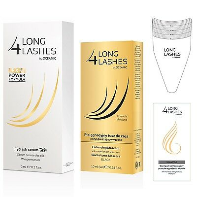 long4Lashes FX5 Power Formula Wimpernserum 3ml + Mascara 10ml + Schablone/Probe