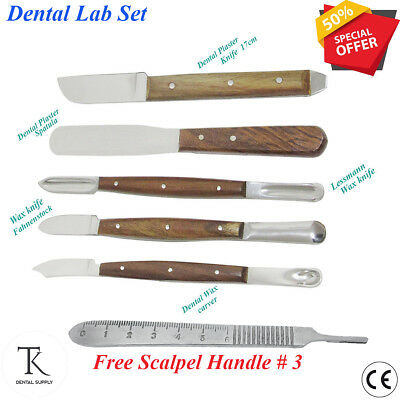 Dental Laboratory instruments Fahnenstock wax knives plaster Gritman Spatula lab