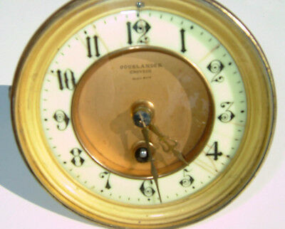 French single train clock movement, serviced and working