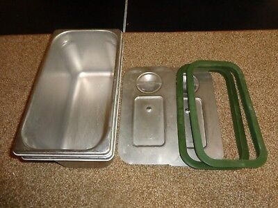 Polar Ware Army Mess Hall Pans Stainless GA210 Lid Seals Lot of 2