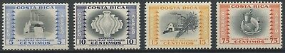 Costa Rica 1956 MH Airmail Stamp Set | Scott #C252-C255 | Industries