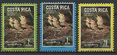 Costa Rica 1979 MNH Airmail Stamps | Scott #C747-C749 | Birds | CRE56