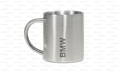 BMW Genuine Active Mug Cup Silver Stainless Steel 300ml Engraved 80282446015