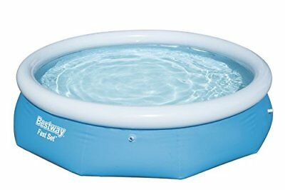 Bestway BW57266 10 ft x 30 Inch Fast Set Round Inflatable Family Swimming ...