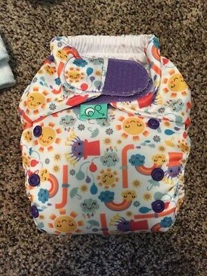 TotsBots Easy Fit Incy Wincy Spider cloth diaper