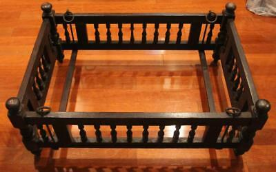 Antique Wooden Crib With Hanging Metal Rings Planter Arts & Crafts Architectural