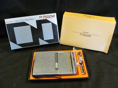 Sony ICF-&500W Solid State AM/FM Radio Transistorise Original Box and Papers