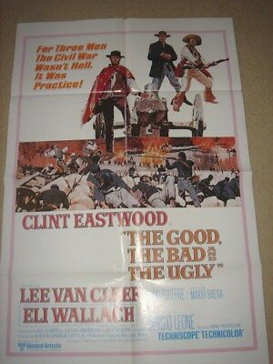 The Good The Bad And The Ugly Clint Eastwood Movie Poster Rare Original