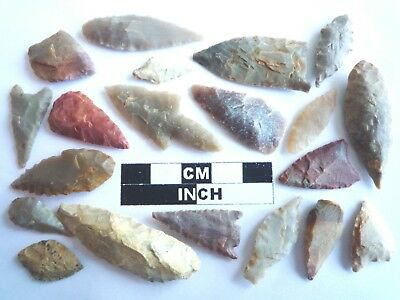 20 x Neolithic Arrowheads - Genuine Saharan Flint Artifacts - 4000BC (2084)