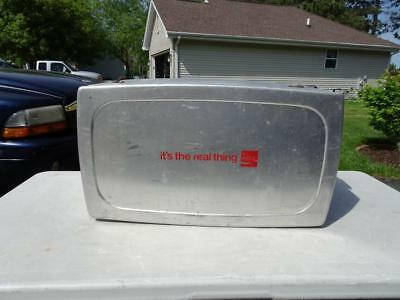 """Vintage Metal Coca Cola Cooler """"its The Real Thing"""" Progress Refrigerator."""