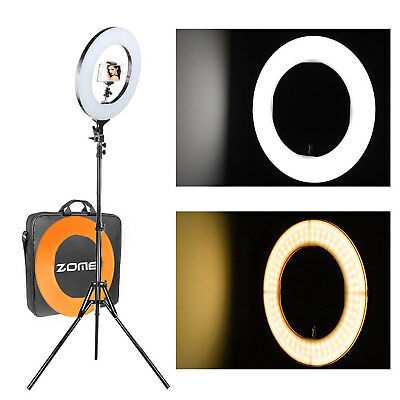 """ZOMEi 14"""" 18"""" Dimmable LED Ring Light Output SMD LED Youtube Video and Makeup"""