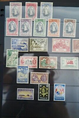 TONGA: COLLECTION of RANGE OF STAMPS (INCLUDING SOME HIGH VALUES)