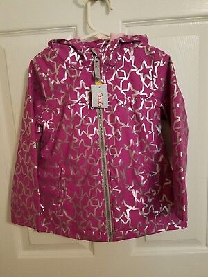 4795709c6 NWT Toddler Girls' Rain Jacket Cat & Jack - Purple with Silver Stars Size 3T