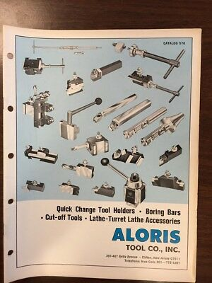 Aloris Tool Co., Inc. Vintage Catalog 570 (Great Condition!) Free Shipping!