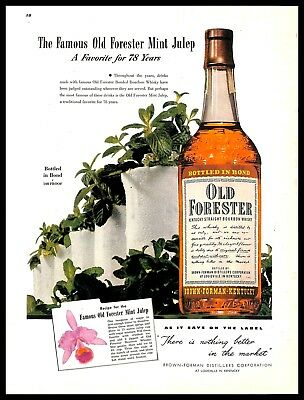 1948 Old Forester Bourbon Whisky Vintage PRINT AD Brown Forman Kentucky 1940s