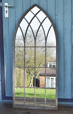 Large Gothic Mirror Rustic Design Wall Arch Outdoor Garden Window Antique Church