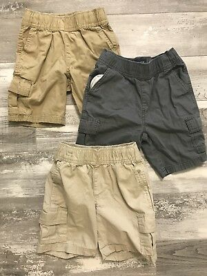 Lot Of 3 Preowned CHILDRENS PLACE boys Cargo Shorts Size 5