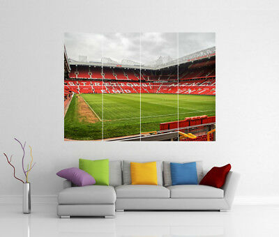 Manchester United Old Trafford Stadium Giant Wall Art Print Pic Photo Poster