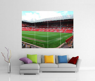 Manchester United Fc Old Trafford Stadium Giant Wall Art Print Pic Photo Poster