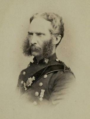 CDV: A British army officer wearing a medal with clasps c.1865