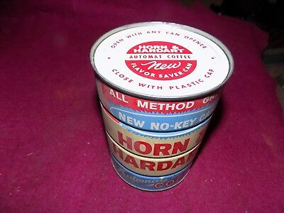 Vintage H And H Horn And Hardart Coffee Tin Can One Pound