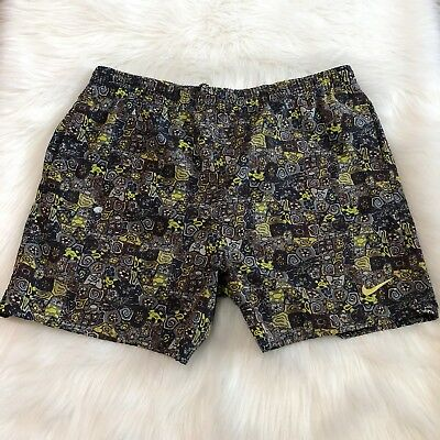 181f40c5fc Nike Mens Large Multicolor Floral Swim Shorts Trunks Blue Green Brown
