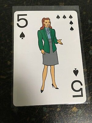 1992 Batman The Animated Series Summer Gleeson Playing Card 5 Of Spades Official