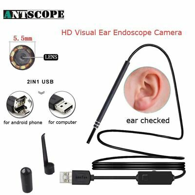 Antscope HD Visual Ear Cleaning USB Android Endoscope Camera 5.5mm