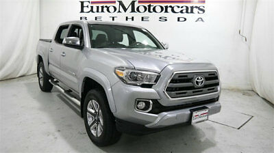 2016 Toyota Tacoma Limited Double Cab 4WD V6 Automatic toyota tacoma limited double cab 4wd awd 16 v6 grey used silver navigation truck