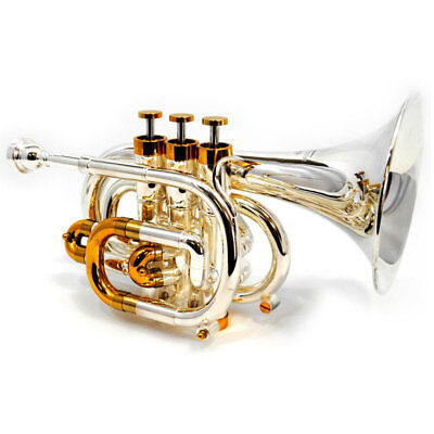 Schiller Centertone Pocket Trumpet Silver/Gold Key of Bb