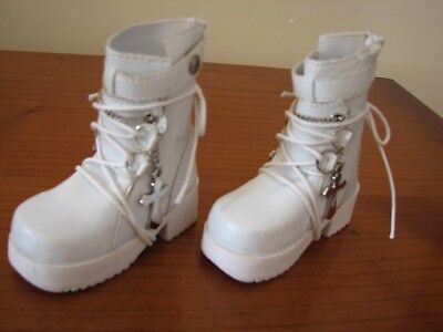 DOLL White Boots Lace/Zip
