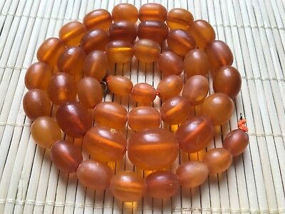 Old Genue Natural Antique Baltic Vintage Amber jewelry stone Necklace Beads