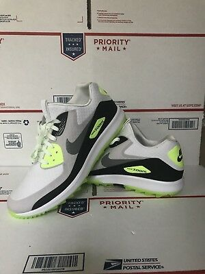 1dbfcf290a4 Nike Air Zoom 90 IT Size 9 Gray  Volt Golf Shoes SOAR Rory McIlroy 844569