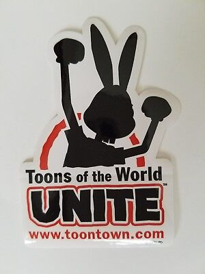 "DISNEY TOONTOWN Online * RARE * ""Toons of the World UNITE"" Stickers ~ Lot of 5"
