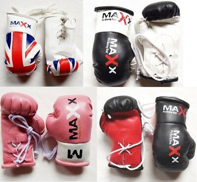 Maxx Mini Car Van Hanging boxing Gloves & Key Ring Glove Novelty Gift mma ufc rf