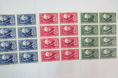 Costa Rica stamps 1949 UPU Specimen MUH  blocks of 8 stamped MW Martin