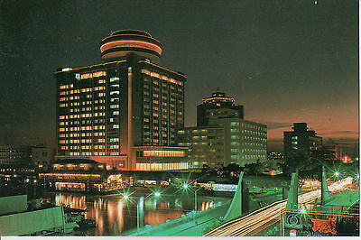 The Night of Fu Hua Hotel Zhong Shan City China chrome postcard posted 1988